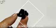 black CNC aluminum parts